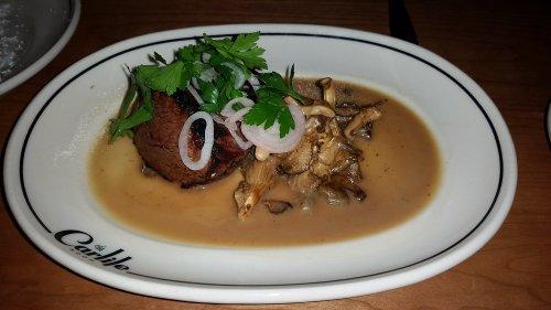 Filet mignon with amazing mushrooms!