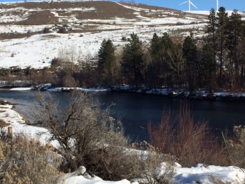 The Yakima River was a pretty site.