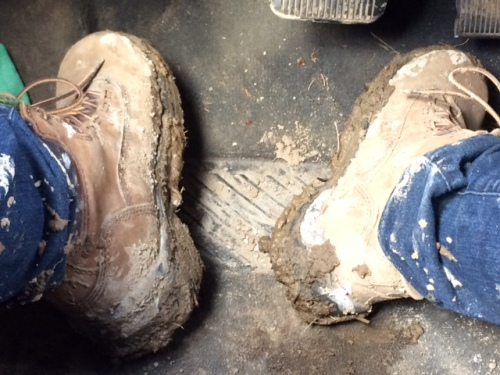 Generally what my shoes and pants looked like the entire time.