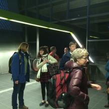 The crew on platform