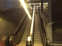 Huge escalator = deep station at UW