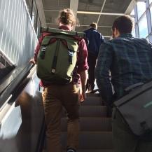 Up escalator at UW