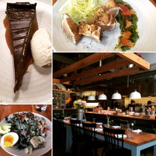 Fantastic but filling lunch at Chop Shop in Capitol Hill; fantastic chopped salad, Albacore, and a salted chocolate tart.