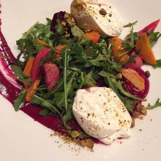 Some genius made this beet and burrata salad @Sazerac