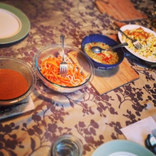 Firly's dinner for us!