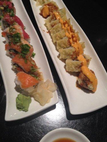 Bryan and my shared sushi bomb!