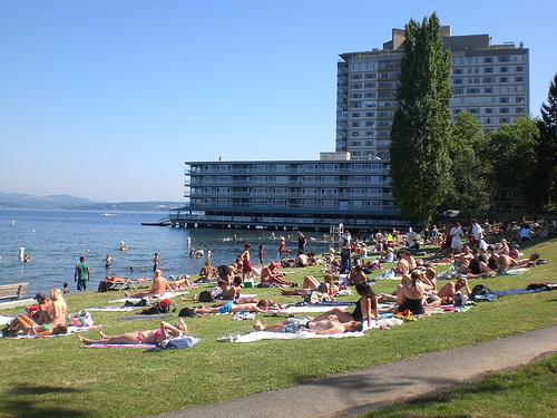 Popular beach day