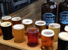 Peddler flight and growlers.