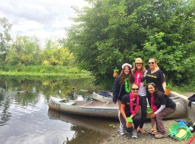 The canoeing crew.