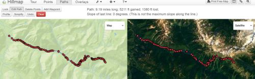 9+ mile hike with a ton of incline on the way to camp.