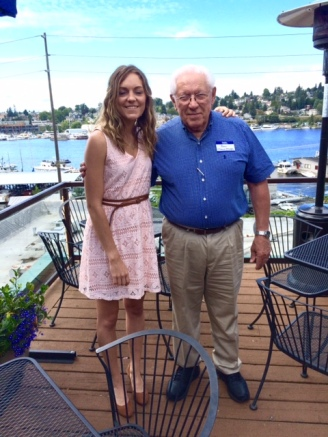 Another shot of Grandpa and I at the party.
