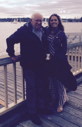 Grandpa and I on Lake Union.