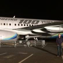 The Centennial 737 plane