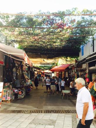Bodrum shopping district.