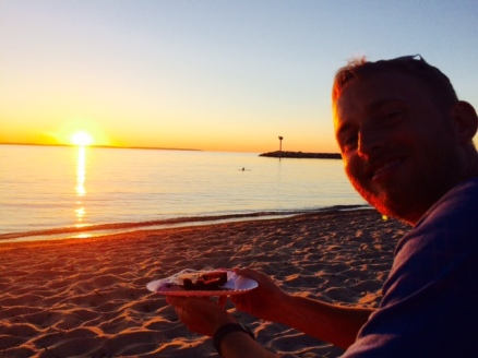 Last sunset in Michigan to revel in our marriage