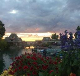 Beautiful sunset on rehearsal dinner night