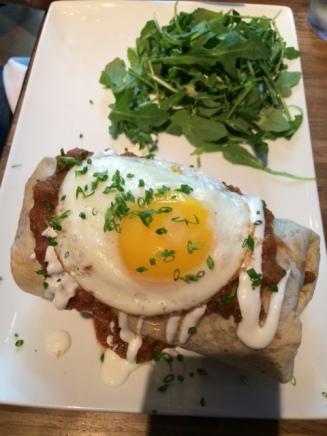 Bryan's breakfast burrito at Eureka!