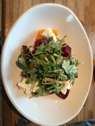 Very good beet salad.