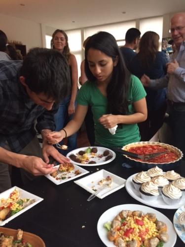 David and Tina sampling my winning dish.