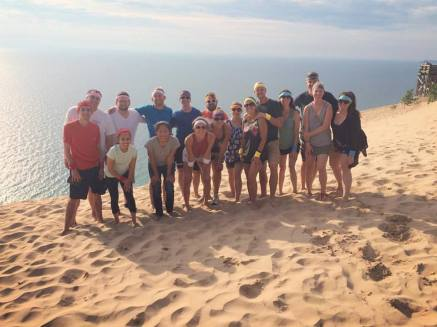 The contestants prior to the dune climb...aka nervous