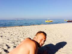 Bryan at Tigaki Beach