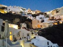 Oia at dusk from our room.
