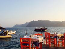 View from dinner at Ammoudi Beach