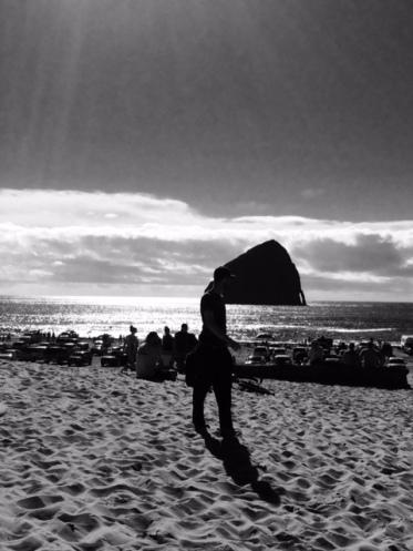 Oregon rocks in the ocean