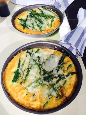 Delish frittatas fresh out of the oven.