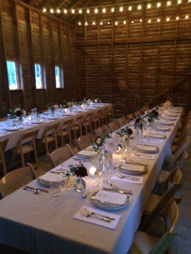 Beautiful atmosphere for the rehearsal dinner.