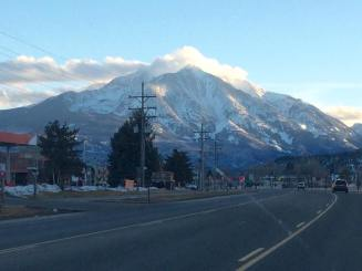 Mount Sopris coming back into Carbondale after day 1 in Aspen