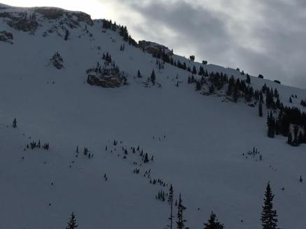 Epic traverse with us as dots on the mountain