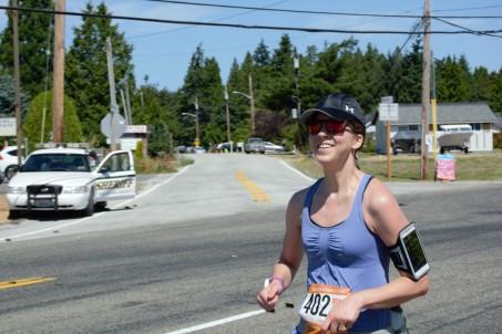 Sarah's first run.
