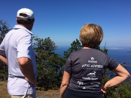 Mom and Dad taking in the views at our lunch spot.