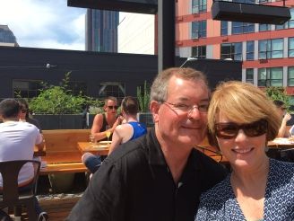 Mom and Dad on the rooftop terrace