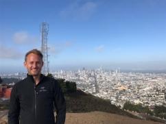 Bryan atop Twin Peaks
