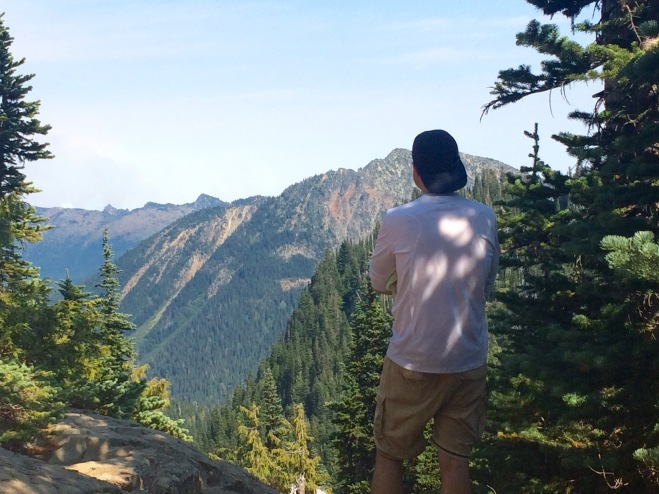 Stephan taking in the views and observing the wildfires in the distance