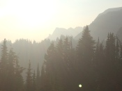 Smoke sweeping into the valley