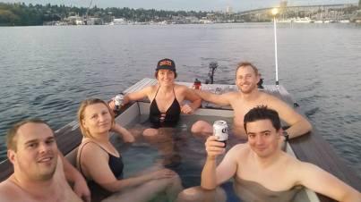Hot tub boat crew
