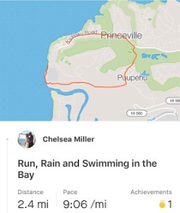 Run #2 was a fun one with an impromptu swim in our clothes