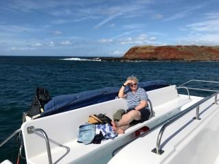 Unfortunately for Trish she wasn't feeling boat-well