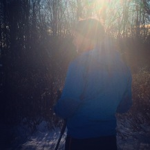 Bryan's first time out cross-country skiing