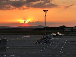 Farewell sunset from Budapest