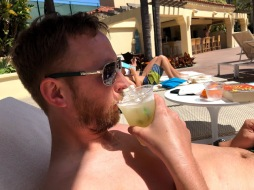 And drinking a margarita at the pool