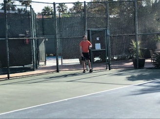 Playing a round of tennis