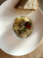 Smoked mackeral and potato salad