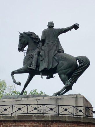 Statue at Wawel Castle