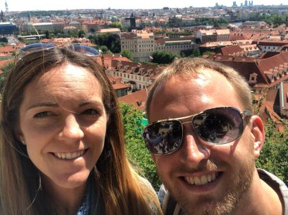 Bryan and I at the top of the castle