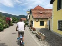 Biking through quaint towns