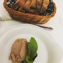 Pate and bread to start